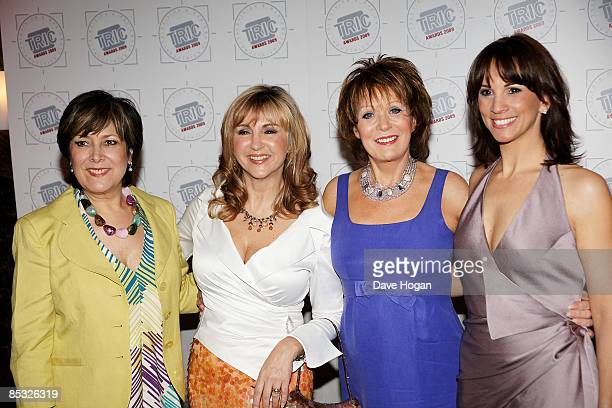 Linda Bellingham Lesley Garrett Cherie Hewson and Andrea McLean attend the Television and Radio Industries Club awards held at Grosvenor House Park...