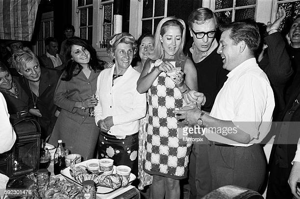 Linda Bird Johnson daughter of the US President at a party in a pub on Old Kent Road with Michael Caine and Liz Frazer in attendance 26th July 1967