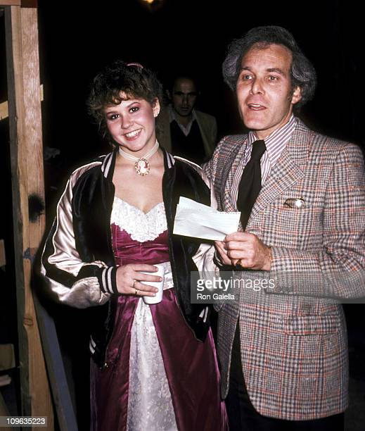 Linda Blair and Bruce Cohn Curtis during On the Set of the Film Hell Night January 13 1981 at Raleigh Studios in Hollywood California United States