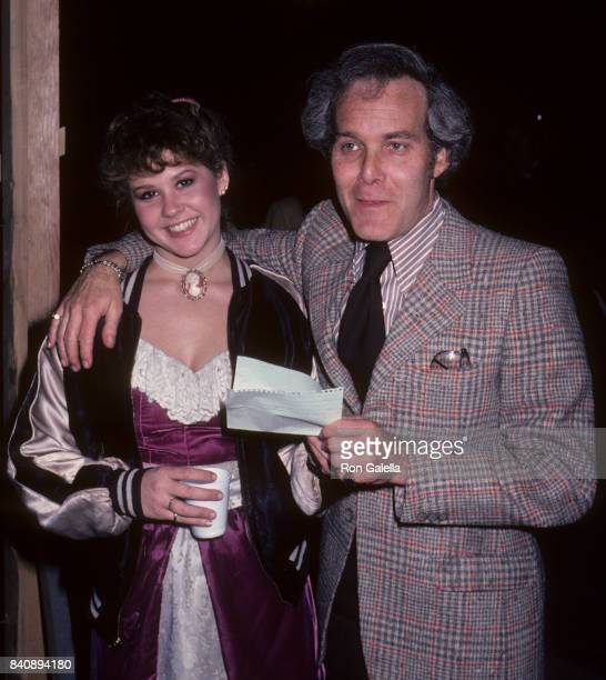 Linda Blair and Bruce Cohn Curtis sighted on location filming Hell Night on January 13 1981 at Raliegh Studios in Hollywood California