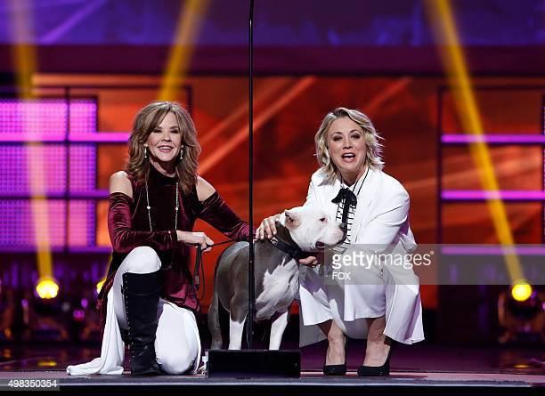 Linda Blair and host Kaley Cuoco onstage at the second annual THE ALLSTAR DOG RESCUE CELEBRATION a oneofakind event celebrating Americas rescue dogs...