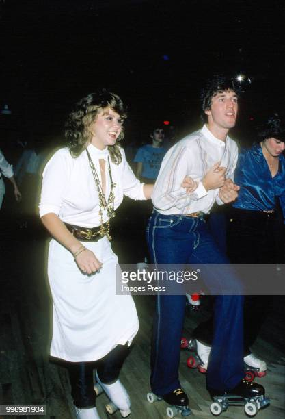 Linda Blair and Jim Bray roller skating circa 1979 in New York