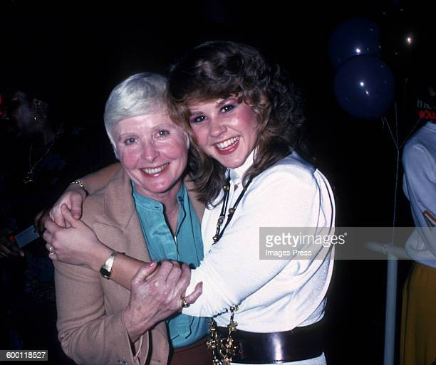 Linda Blair and mom Elinore Blair attends the Promotional Party for Roller Boogie circa 1979 in New York City