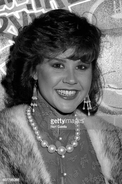 Linda Blair attends American Film Market Opening Party on March 9 1984 at the Beverly Center in Beverly Hills California