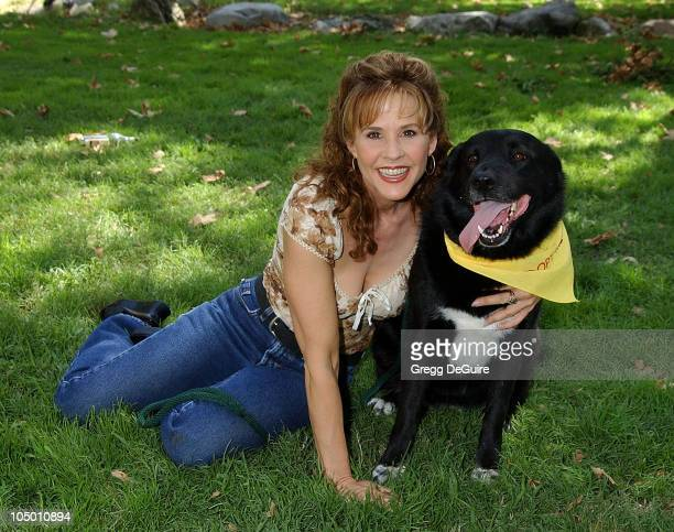 Linda Blair Dog Angel during Best Friends Animal Sanctuary's Pet Adoption Festival at Johnny Carson Park in Burbank California United States