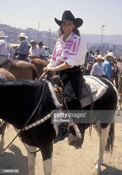 Linda Blair during Ben Johnson ProCelebrity Rodeo at LA Equestrian Center in Burbank California United States