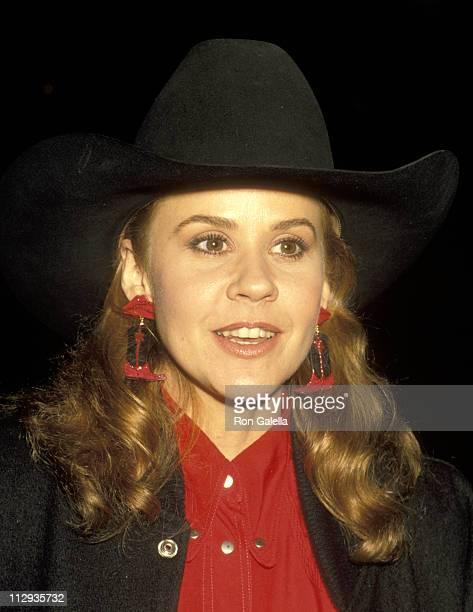 Linda Blair during Crown Royal Horse Show at LA Equestrian Center in Burbank California United States