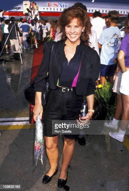 Linda Blair during Linda Blair Sighting at Orlando International Airport June 5 1990 at Orlando International Airport in Orlando Florida United States