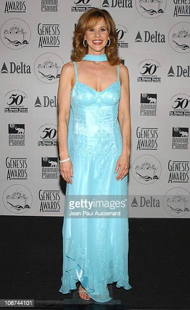 Linda Blair during The 18th Annual Genesis Awards and 50th Anniversary of the Humane Society of the United States Pressroom at Beverly Hilton in...