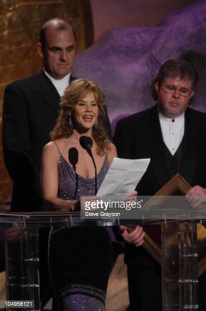 Linda Blair presents The Brigitte Bardot International Award to Klaus Schwagrzinna and Jerry Jones for Les Mustangs