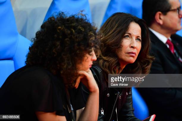 Linda Boudjellal wife of Toulon president Mourad Boudjellal and their daughter Roselaine the Top 14 Final between RC Toulon and Clermont Auvergne at...