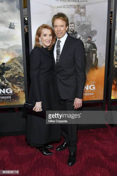 Linda Bruckheimer and Producer Jerry Bruckheimer attend the '12 Strong' World Premiere at Jazz at Lincoln Center on January 16 2018 in New York City