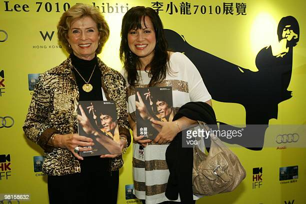 Linda Cadwell widow of the late Kung Fu star Bruce Lee and Bruce Lee's daughter Shannon Lee attend opening ceremony for Bruce Lee's exhibition as...