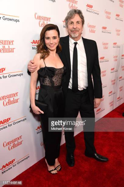 Linda Cardellini and Peter Farrelly attend AARP The Magazine's 18th Annual Movies for Grownups Awards at the Beverly Wilshire Four Seasons Hotel on...