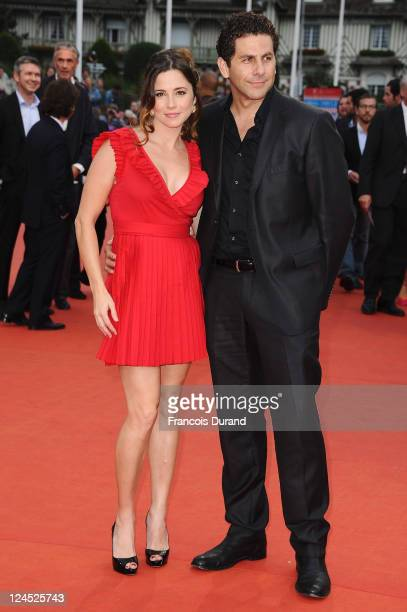 Linda Cardellini and Steven Rodriguez arrives with a guest at the Closing Ceremony of the 37th Deauville American Film Festival on September 10, 2011...