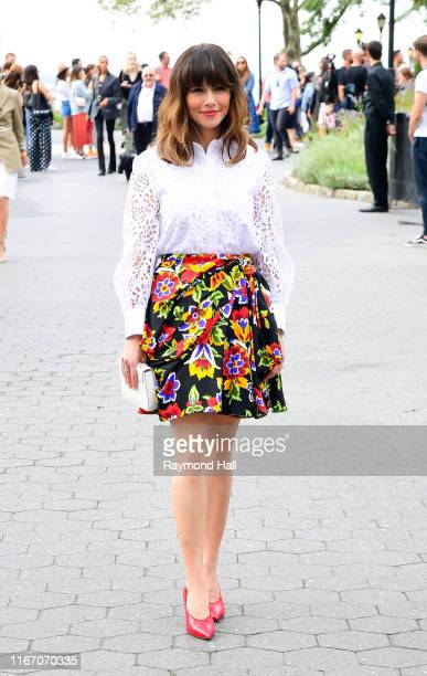 Linda Cardellini arrives at the Carolina Herrera fashion show during New York Fashion Week on September 9 2019 in New York City