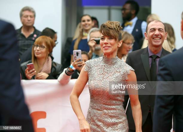 Linda Cardellini attends the 'Green Book' premiere during 2018 Toronto International Film Festival at Roy Thomson Hall on September 11 2018 in...