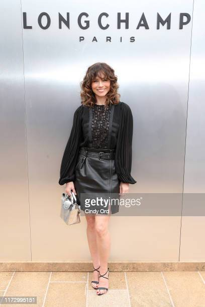 Linda Cardellini attends the Longchamp SS20 Runway Show at Hearst Plaza, Lincoln Center on September 07, 2019 in New York City.