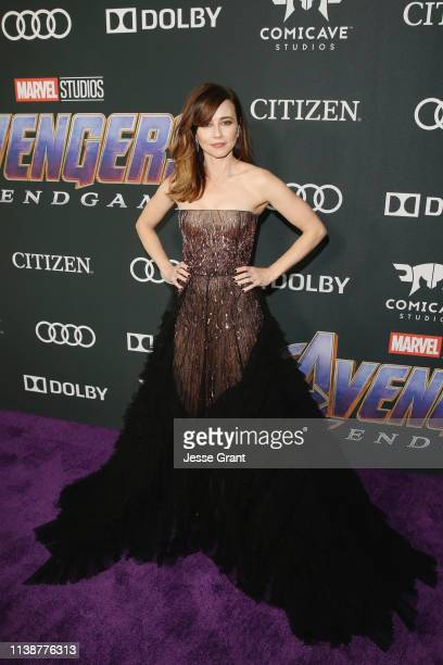 Linda Cardellini attends the Los Angeles World Premiere of Marvel Studios' Avengers Endgame at the Los Angeles Convention Center on April 23 2019 in...