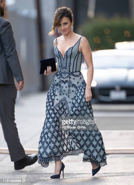 Linda Cardellini is seen at 'Jimmy Kimmel Live' on April 15, 2019 in Los Angeles, California.