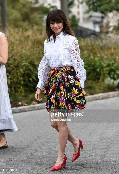 Linda Cardellini is seen outside the Carolina Herrera show during New York Fashion Week S/S20 on September 09 2019 in New York City