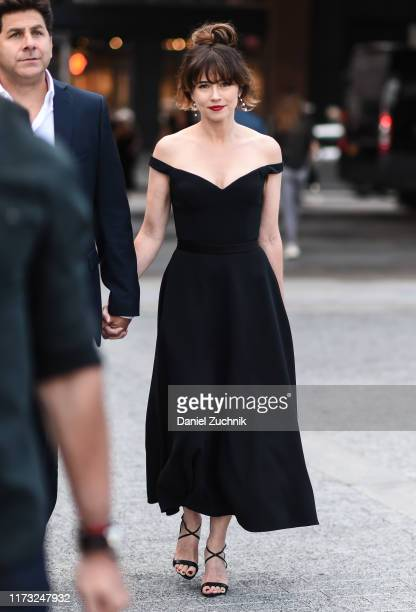 Linda Cardellini is seen wearing a black dress outside the Jason Wu show during New York Fashion Week S/S20 on September 08, 2019 in New York City.