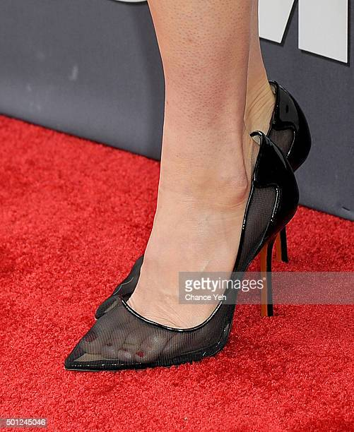Linda Cardellini shoe detail attends Daddy's Home New York premiere at AMC Lincoln Square Theater on December 13 2015 in New York City