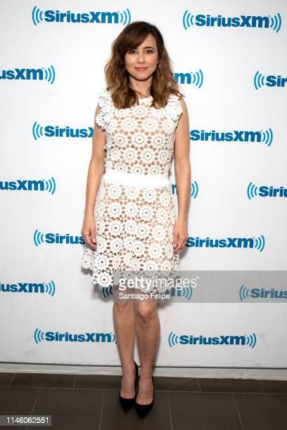 Linda Cardellini visits SiriusXM Studios on April 30 2019 in New York City