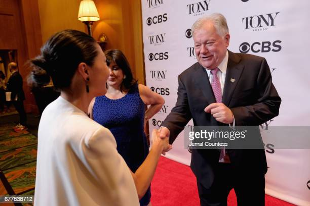 Linda Cho Broadway League President Charlotte St Martin and Broadway League Chairman Robert Wankel attend the 2017 Tony Awards Meet The Nominees...