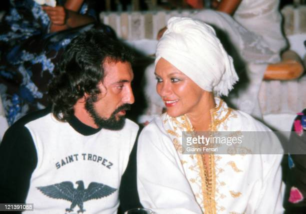 Linda Christian and Antonio Arribas in Marbella at a party, 30th August 1982, Malaga, Spain.