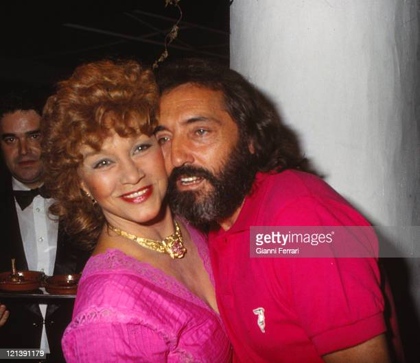 Linda Christian and Antonio Arribas in Marbella at a party Malaga Spain