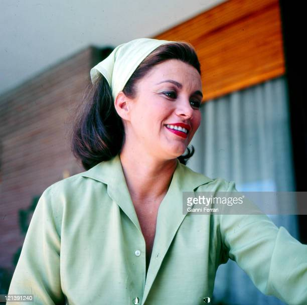 Linda Christian at her villa of 'La Moraleja' 12th August 1964 Madrid Spain