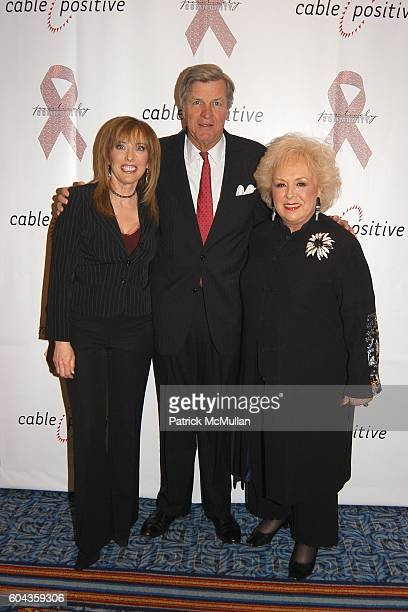 Linda Cohn James Robbins and Doris Roberts attend Cable Positive and Cable TV BigWigs Avow Industry's Fight Against HIV/AIDS at Marriott Marquis on...