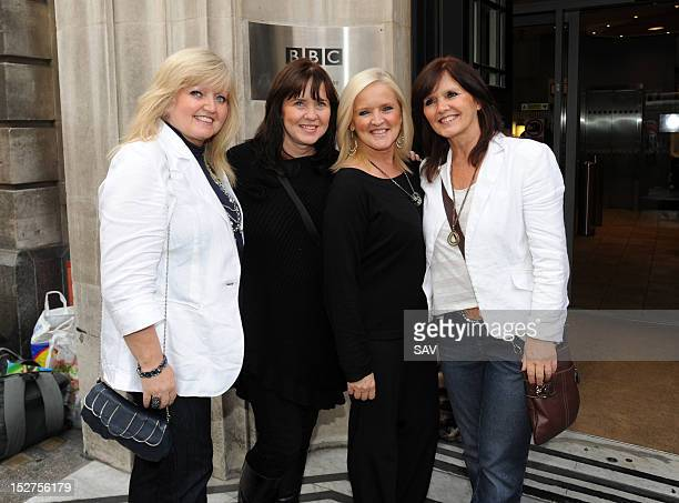 Linda, Coleen, Bernie and Maureen of the The Nolans sighted at BBC Radio 2 on September 25, 2012 in London, England.