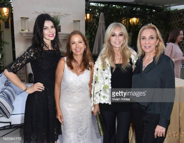 Linda Collins Karine Ohana Anastasia Soare and Susan Rockefeller attend Ohana Co LA Event Brands With Mission at The Peninsula Beverly Hills on...