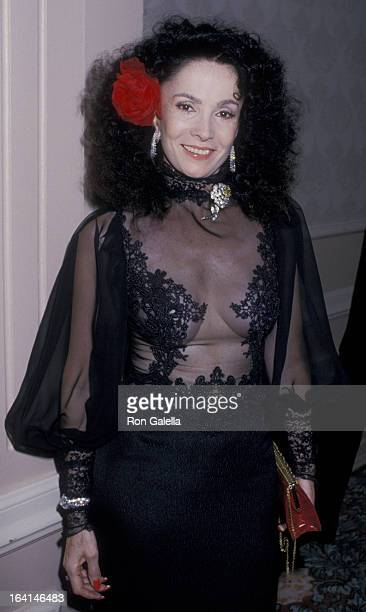 Linda Cristal attends Nostros Golden Eagle Awards on May 13 1989 at the Beverly Hilton Hotel in Beverly Hills California
