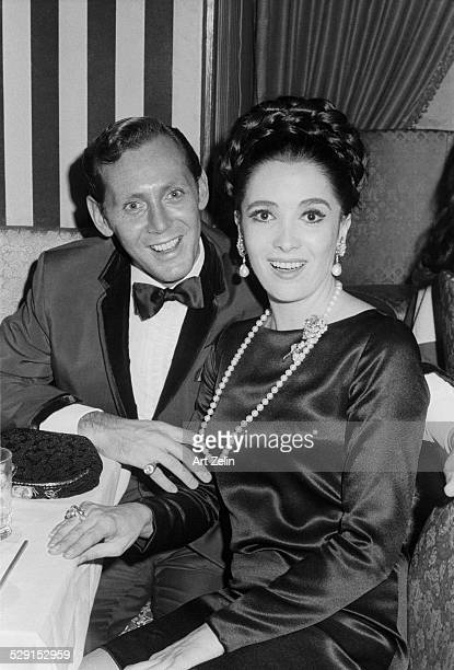Linda Cristal with her husband Yale Waxler circa 1970 New York