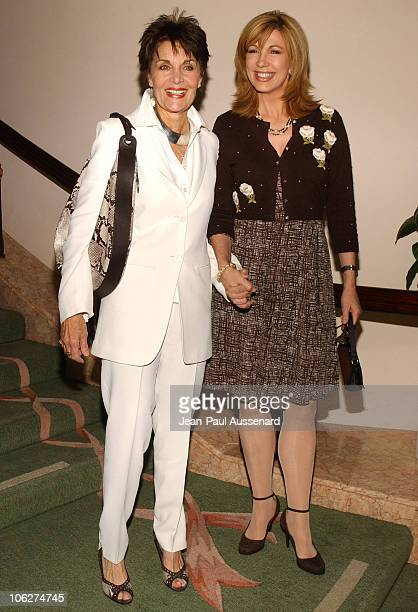 Linda Dano and Leeza Gibbons during 3rd Annual Hollywood Bag Ladies Lupus Luncheon Arrivals at Beverly Hills Hotel in Beverly Hills California United...