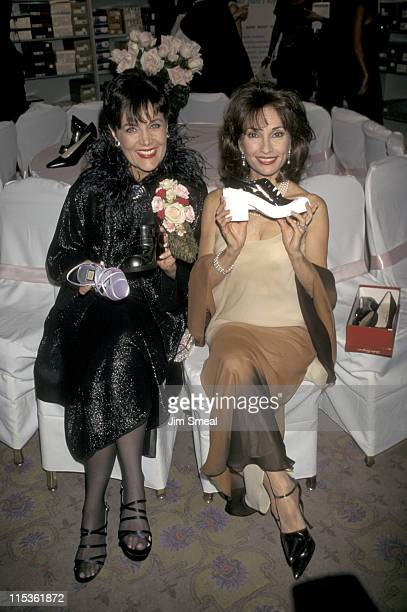 Linda Dano and Susan Lucci during QVC Presents Ffany Shoes on Sale Breast Cancer Benefit at Pierre Hotel in New York City California United States