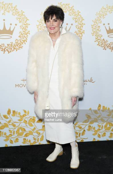 Linda Dano attends Hallmark Channel And Hallmark Movies And Mysteries 2019 Winter TCA Tour at Tournament House on February 09 2019 in Pasadena...