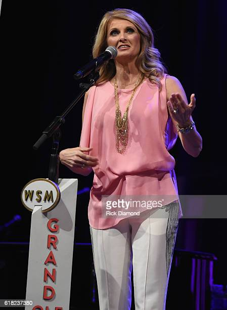 Linda Davis of Hillary Scott The Scott Family performs at Jason Aldean's 11th Annual Event Benefitting Susan G Komen As Part of Opry Goes Pink Jason...