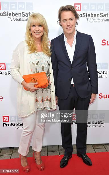 Linda de Mol and boyfriend Jeroen Rietbergen attend the ProSiebenSat 1 Summertime at Alte Kongresshalle on July 20 2011 in Munich Germany