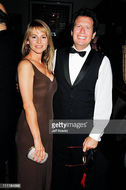 Linda Doucett and Garry Shandling during 1993 Emmy Awards Governors Ball Party in Los Angeles California
