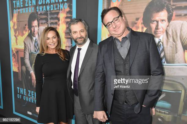 Linda Doucett Judd Apatow and Bob Saget attend the screening of HBO's The Zen Dairies of Garry Shandling at Avalon on March 14 2018 in Hollywood...