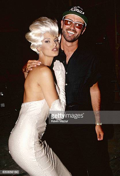 Linda Evangelista and George Michael during the 'Too Funky' video shoot circa 1992 in Paris France