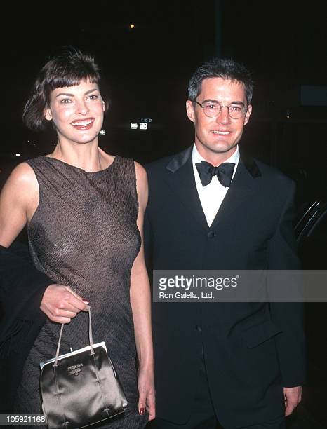 Linda Evangelista and Kyle MacLachlan during The Costume Institute Gala Honors Christian Dior at Metropolitan Museum of Art in New York City New York...