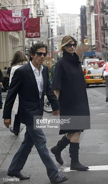 Linda Evangelista and Peter Morton during Linda Evangelista Sighting in Soho New York City November 13 2006 at Soho in New York City New York United...