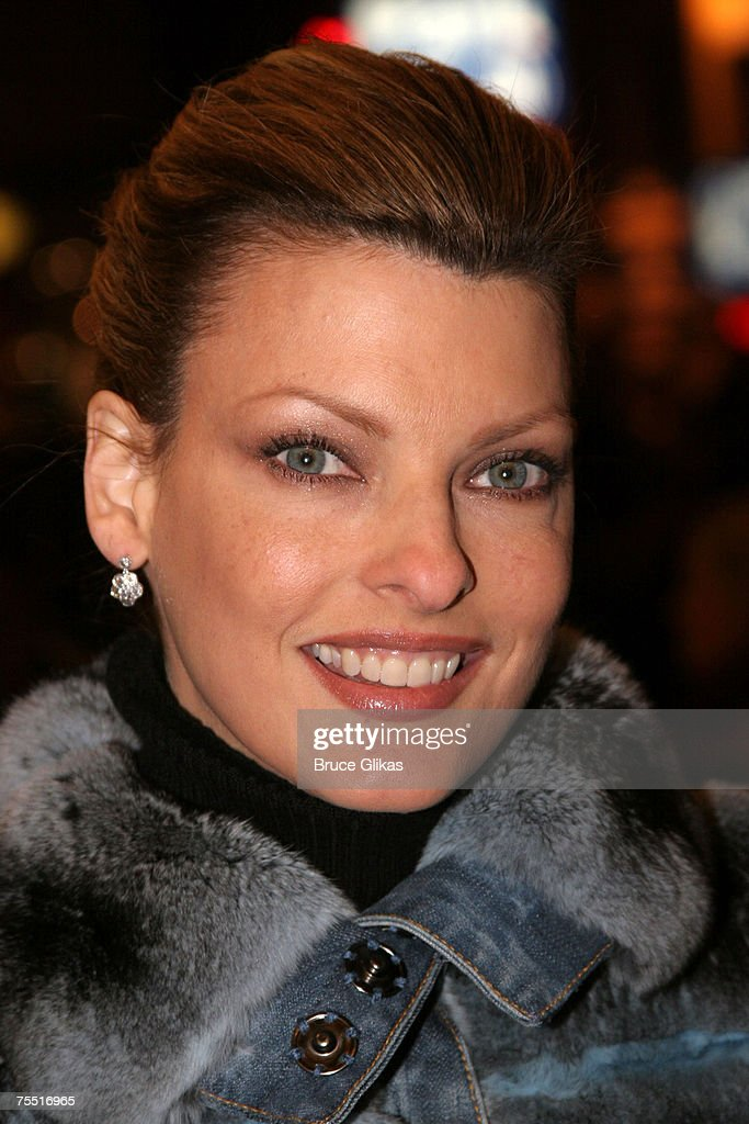 Linda Evangelista at the 'Chita Rivera: The Dancer's Life' Broadway Opening Night - Arrivals at The Gerald Schoenfeld Theatre in New York, NY.