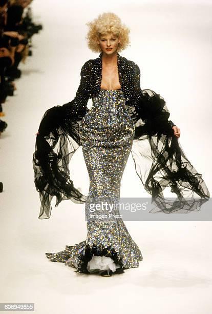 Linda Evangelista at the Vivienne Westwood Spring 1995 show circa 1994 in Paris, France.