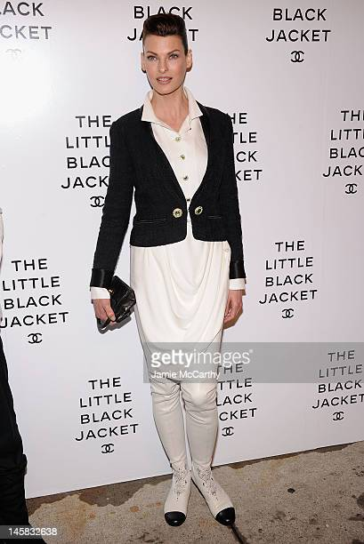 Linda Evangelista attends Chanel's:The Little Black Jacket Event at Swiss Institute on June 6, 2012 in New York City.